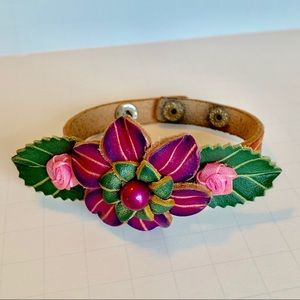 Jewelry - Leather tooled bracelet